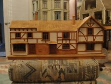 """SALE : Artisan One of a Kind Tudor Dollhouse 1/2"""" Scale from Museum in England"""
