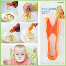 2xPopular Baby Food Masher Multi Function Plastic Press Mash Cutter BPA PVC Free