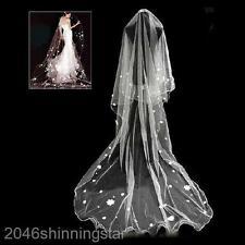 NEU 2,8*1,4 M Damen Hochzeit Braut-Schleier Ultra-Länge Design Brautschleier