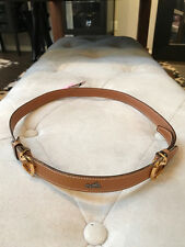 Hermes Sz ZS Brown Thin Leather Belt Vintage Gold Tone Buckle
