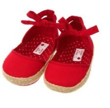 Janie And Jack Baby Girls Cherry Darling Red Crib Shoes. Size 0