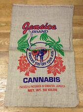 JAMAICA BRAND WITH DONKEY JACKASS MARIJUANA POT WEED 50 KILOS BURLAP SACK BAG