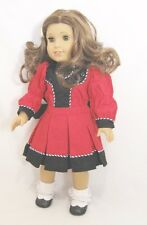 """Doll Clothes Fit AG 18"""" Dress Rebecca Victorian Red Made For American Girl Dolls"""