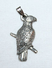 African Grey PARROT Bird Harris Fine Pewter Pendant USA Made