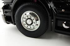 Für RC Truck Tamiya MAN Actros Scania Volvo Vorderachse Radnabe Alu 2 Stück 1:14