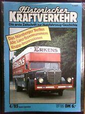 Historischer Kraftverkehr  Nr: 4 aus 1985   in Schutzhülle