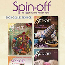 4 Issues on CD: SPIN-OFF MAGAZINE 2003 Spinning Yarn NEW
