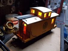 LED Bobber Caboose lighting 2x2x2 White/Amber/White 2-Solid-Red-Tail Lights