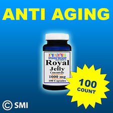 Royal Jelly Anti Aging, Energy Herb 100 Capsules 1000mg GMP Approved & Made USA