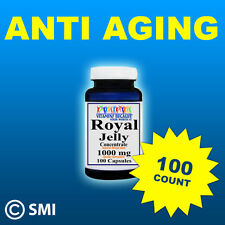 Royal Jelly Anti Aging, Energy Herb 100 Capsules 1000mg FDA Approved & Made USA