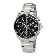 CAY111A.BA0927 Tag Heuer Aquaracer Mens Watch Quartz Chronograph black steel 300