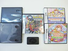 5 Nintendo DS Video Games - 2 Pokemon, Metroid, Cooking Mama 2 & 3, + 2 Cases