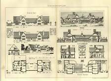 1907 Design For Pair Of Lodges And Motor Garage Lion