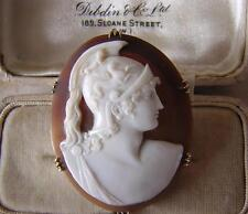 Aquiles Guerra De Troya-mejor antigua victoriana Antique Victorian Grand Tour Camafeo Broche Pin En Oro