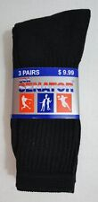 Bulk Lot of 300 Pairs Mens Black Crew Socks FREE SHIPPING!!! sz 10-13