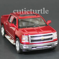 Kinsmart 2014 Chevrolet Silverado LTZ 4x4 Pick Up Truck 1:46 Diecast Car Red