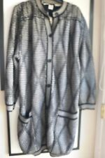 Ungaro parallele Paris vintage knit coat made Italy black cream 3/4 length est M