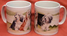 BEARDED COLLIE DOG Mug Off to the dog show Sandra Coen artist sublimation print