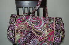 NEW WITH TAGS VERA BRADLEY VERY BERRY PAISLEY XL LARGE  DUFFEL XL EXTRA XTRA BIG