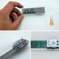 Car Auto Transparent Digital Temperature Thermometer With Suction Cup On Window