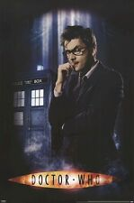 DOCTOR WHO ~ SMOKE PORTRAIT 24x36 POSTER David Tennant DR BBC Tardis Tenth