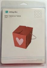 Lifestyle Crafts/Quickutz Mini Take Out Box Cutting Die* NEW*