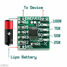 1S Single Cell Lipo Battery Voltage Status LED Indicator Gauge Module