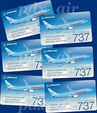 SIX THOMSONFLY BRITISH AIRLINE BOEING 737-800 SKY INTERIOR STICKERS