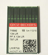 GROZ BECKERT LEATHER POINT INDUSTRIAL SEWING MACHINE NEEDLES 134LR SIZE 18/110