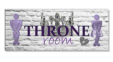 THE THRONE ROOM Toilet SIGN Plaque Chic Bathroom WC Door Ladies Gents funny gift