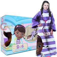 Disney Jr. Doc Mcstuffins Throw Blanket with Sleeves Comfy Throw Kids Size 48x48