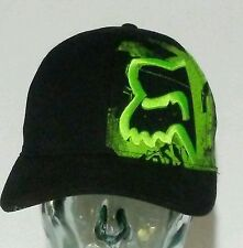 Fox Racing Baseball Cap Hat Cotton Spandex Small Medium Black Green