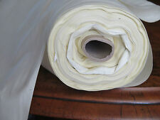 "54"" (137cms) WIDE IVORY COTTON SATEEN CURTAIN LINING SUPERB QUALITY BY THE METRE"