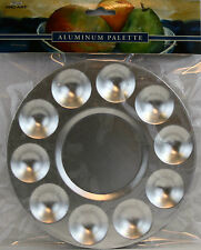 "Pro Art 10 Well Aluminum Mixing Tray Palette 6 1/2"" Diam. Rustproof Durable"