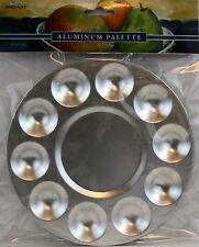 "Pro Art 10 Well Aluminum Mixing Tray Palette 6 1/2"" Diam. Rustproof Durable"