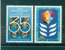 Nations Unies New York 1980 - Michel n.346/47  -  35e anniversaire de l'Organiza