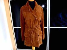 TIMBERLAND TAN SUEDE BELTED COAT SIZE M