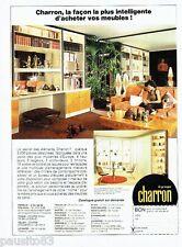 PUBLICITE ADVERTISING 106  1973  les meubles éléments  Charron