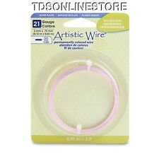21GA Artistic Wire 3mm Wide Flat Wire Rose Gold Color 3ft