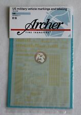 Archer 1/48 U.S. Military Vehicle Markings & Labeling Stencils (Yellow) AR48001Y