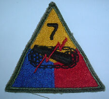 AMERICAN PATCHES-ORIGINAL WW2 7th ARMOURED DIVISION SNOWY WHITE BACK