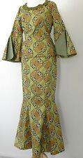 Vtg Full Length Skirt Suit Size XS Mermaid Hippie Style Bell Sleeves Multicolor