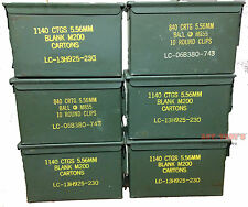 6 PACK .50 CALIBER 5.56mm AMMO CAN M2A1 50CAL METAL AMMO CAN BOX VGC