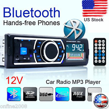 Bluetooth Car Stereo Audio In-Dash FM Aux Input Receiver SD USB MP3 Radio Play