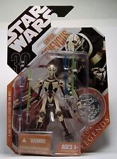 GENERAL GRIEVOUS STAR WARS SAGA LEGENDS 30th ANNIVERSARY SILVER COIN FIGURE MOSC