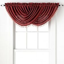 2-Pack: Beaded Emerald Crepe Waterfall Valances - Assorted Colors