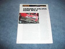 How-to Tech Info Article Comp Cams LS3 VVT Camshaft Article 2013 Camaro L99