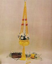 BOOK ONLY # 905 Macrame for Ages 8 and Up - Rare Beginner Plant Hanger Pattern