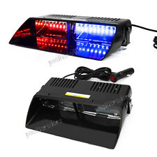 16 LED Red/Blue Car Police Strobe Flash Light Dash Emergency Flashing Light Lamp