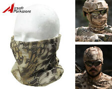 Tactical Camouflage Quick Drying Scarf Half Face Mask Airsoft Hunting NOMAD Camo